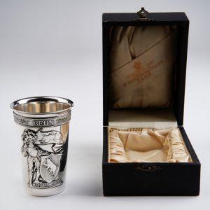 Pahar din argint masiv Elvetia,in cutia originala